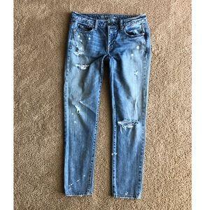 American Eagle Jeans Size 4 Long Ankle Boy Jeans